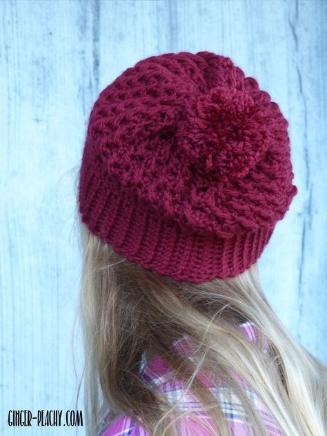 Bordeaux Slouch Beanie | Pinterest | Stricken