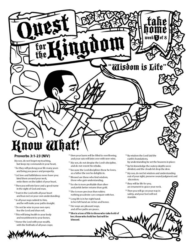Wisdom is Life - Proverbs 3:1-23 activity sheet | MissionView ...