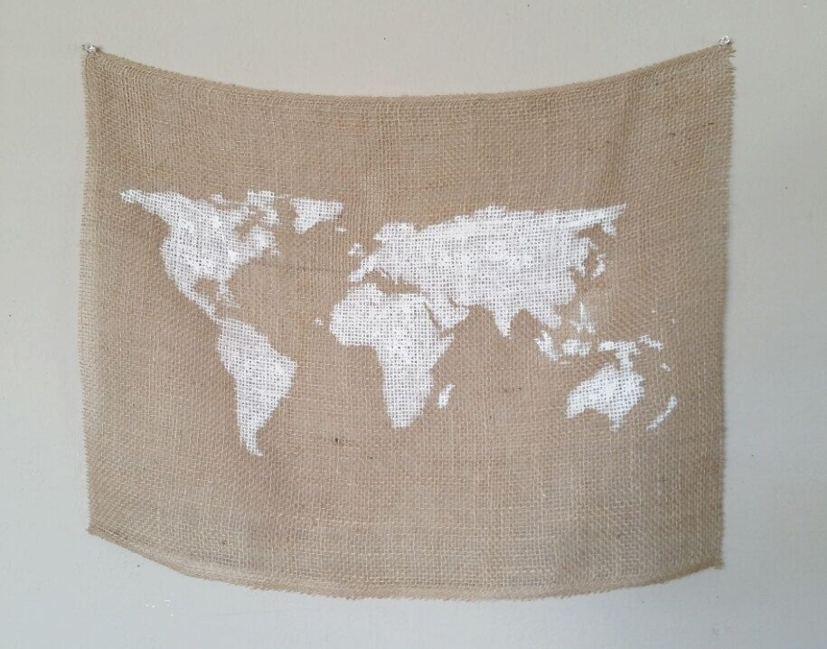 World map burlap tapestry 24in x 18in by nwurbancottage on etsy world map burlap tapestry 24in x 18in by nwurbancottage on etsy httpswww gumiabroncs Images