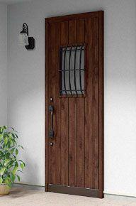 Lixil 玄関まわり グランデル 施工イメージ 44型アンティークオーク 玄関ドア リクシル 玄関 おしゃれな玄関ホール