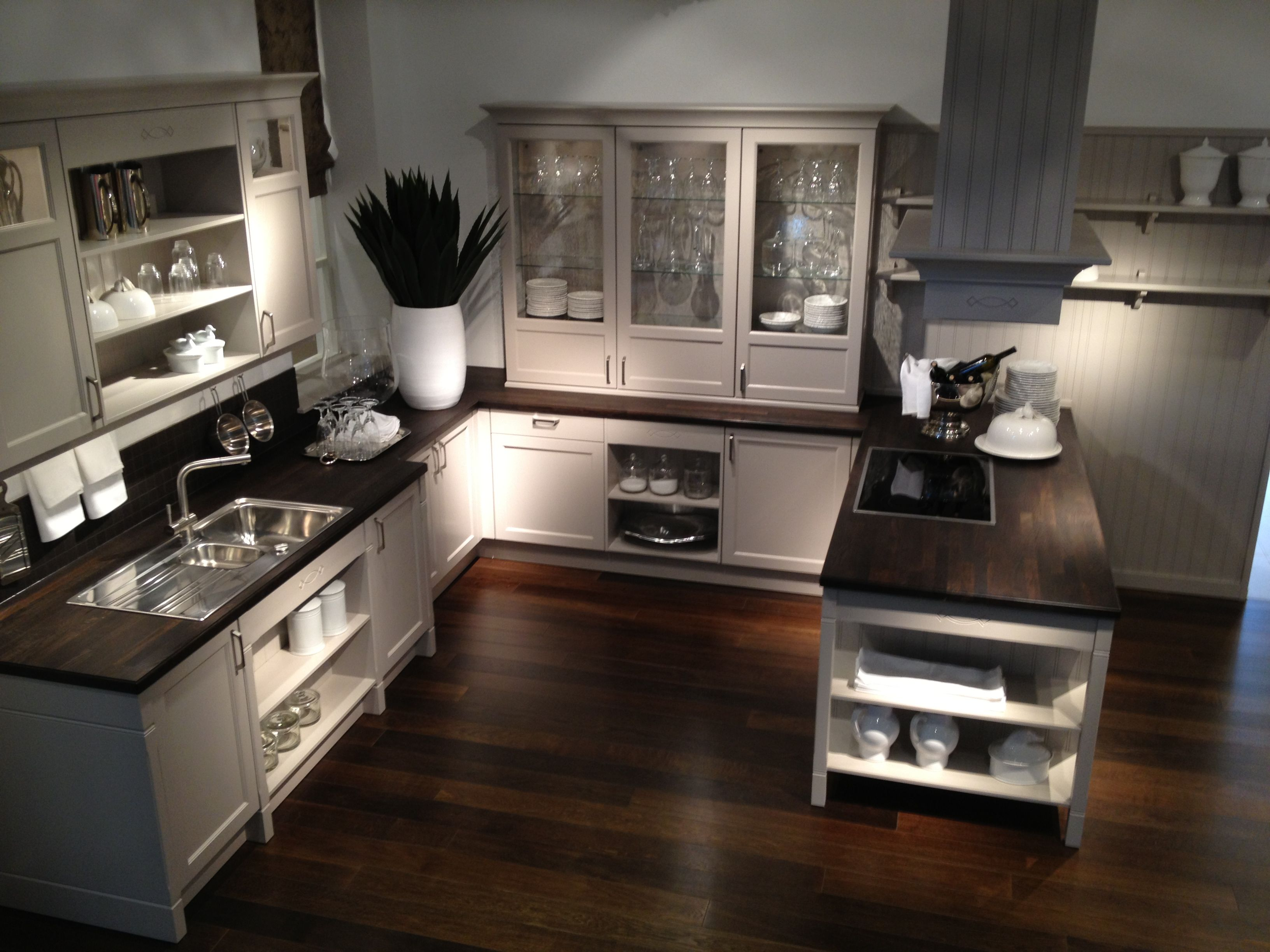 Cashmere and wenge traditional style   Kitchen cabinets ...