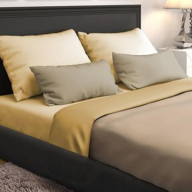 Buy 4-Piece Set: Premium Ultra-Soft Wrinkle Free Solid Bed Sheets - Assorted Colors by Bargain Hunters on OpenSky