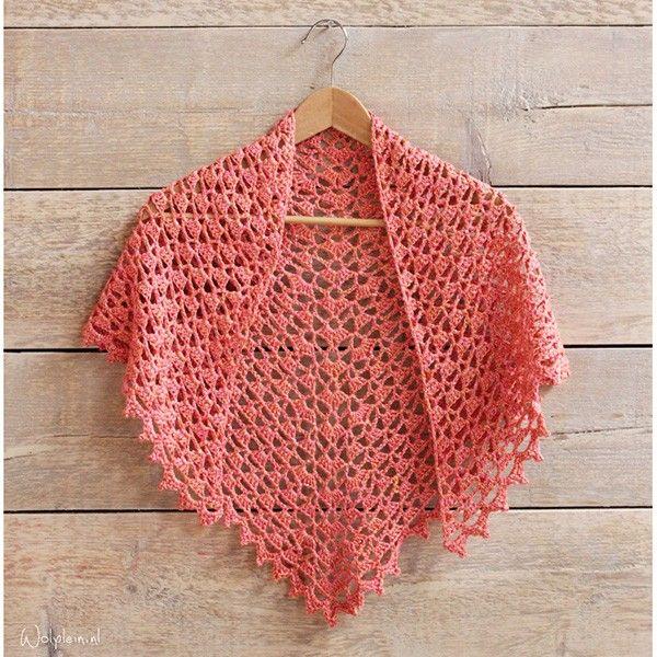 Gratis Haakpatroon Maharani Silk Zomersjaal | crochet | Pinterest ...