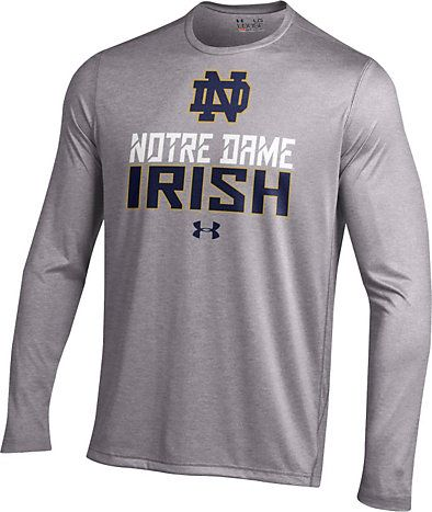 University Of Notre Dame Long Sleeve Nu Tech Performance T Shirt