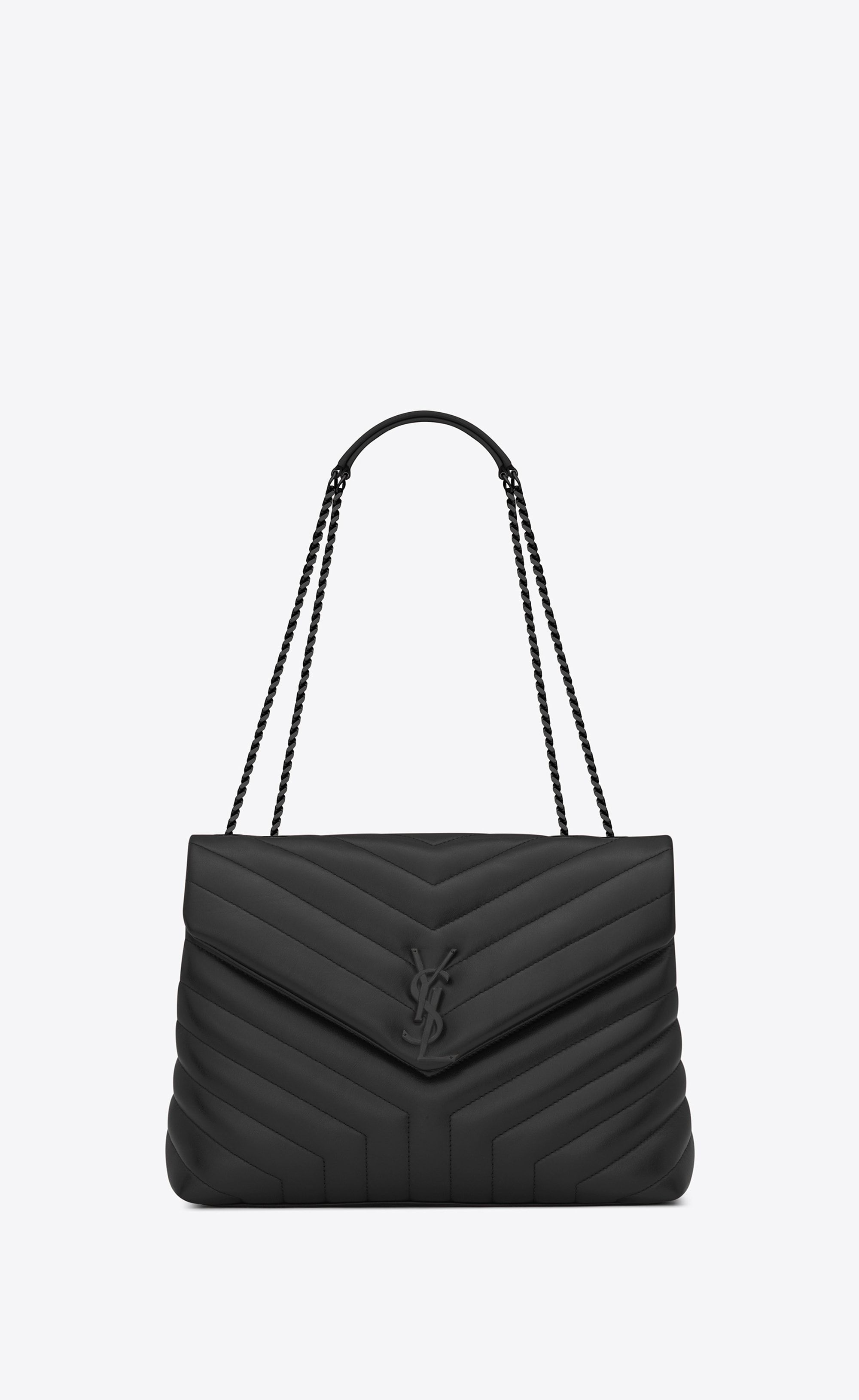 29f7528cb1 Saint Laurent Medium LOULOU Bag With Chain And Black