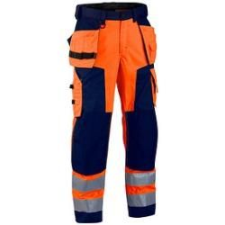 Photo of Blakläder® unisex high visibility trousers 1568 orange size 29