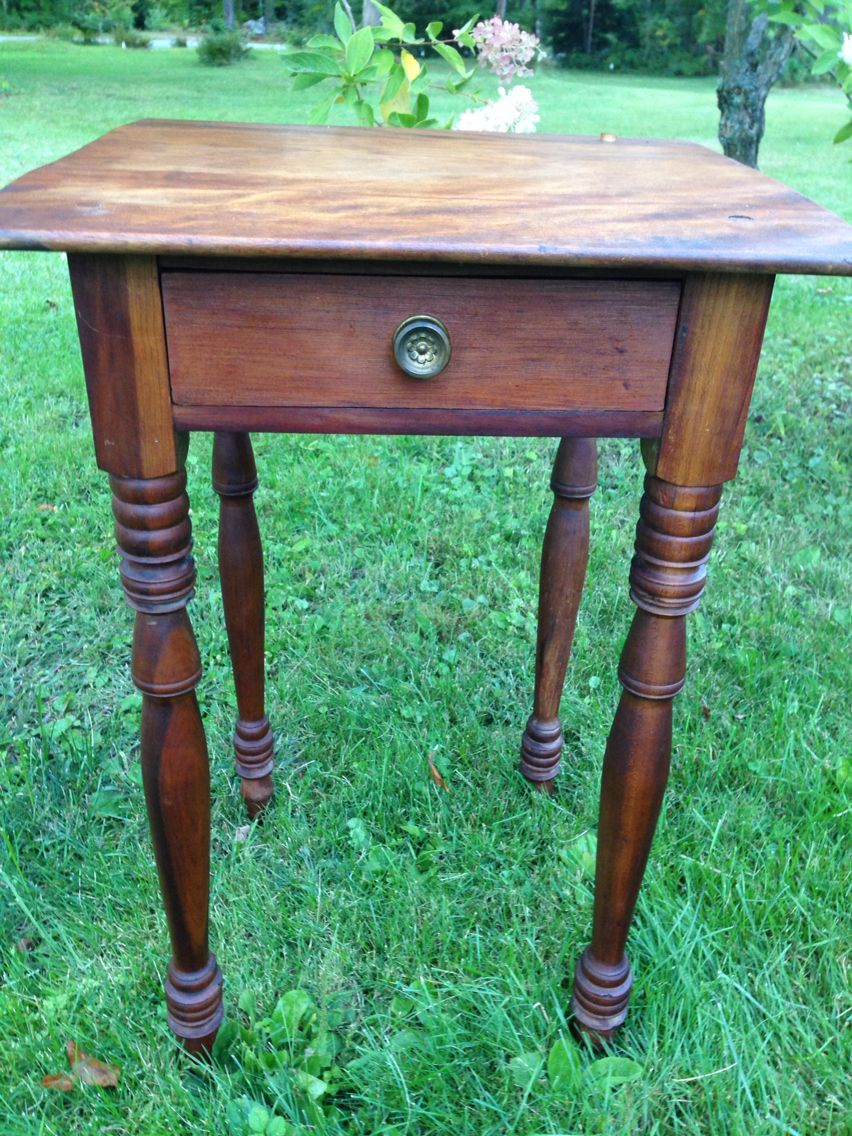 Antique Mid 1800u0027s Sheridan Side Table In Cherry.