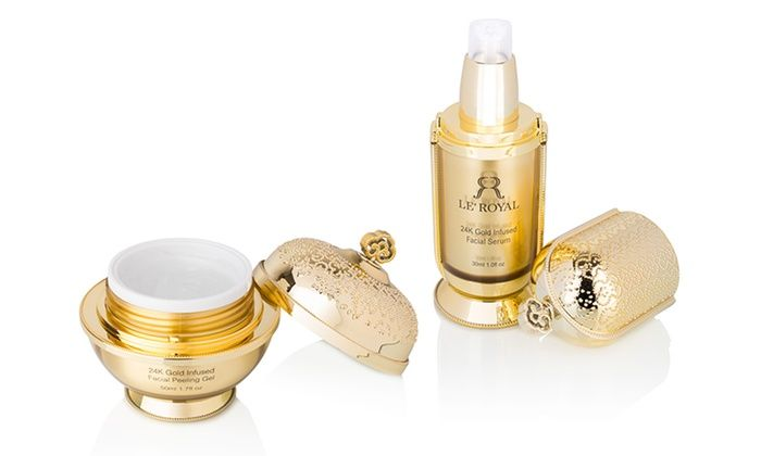 Le Royal 24k Gold Infused Facial Peeling Gel Or Facial Serum Serum Cosmetic Facial Serum Moisturizer