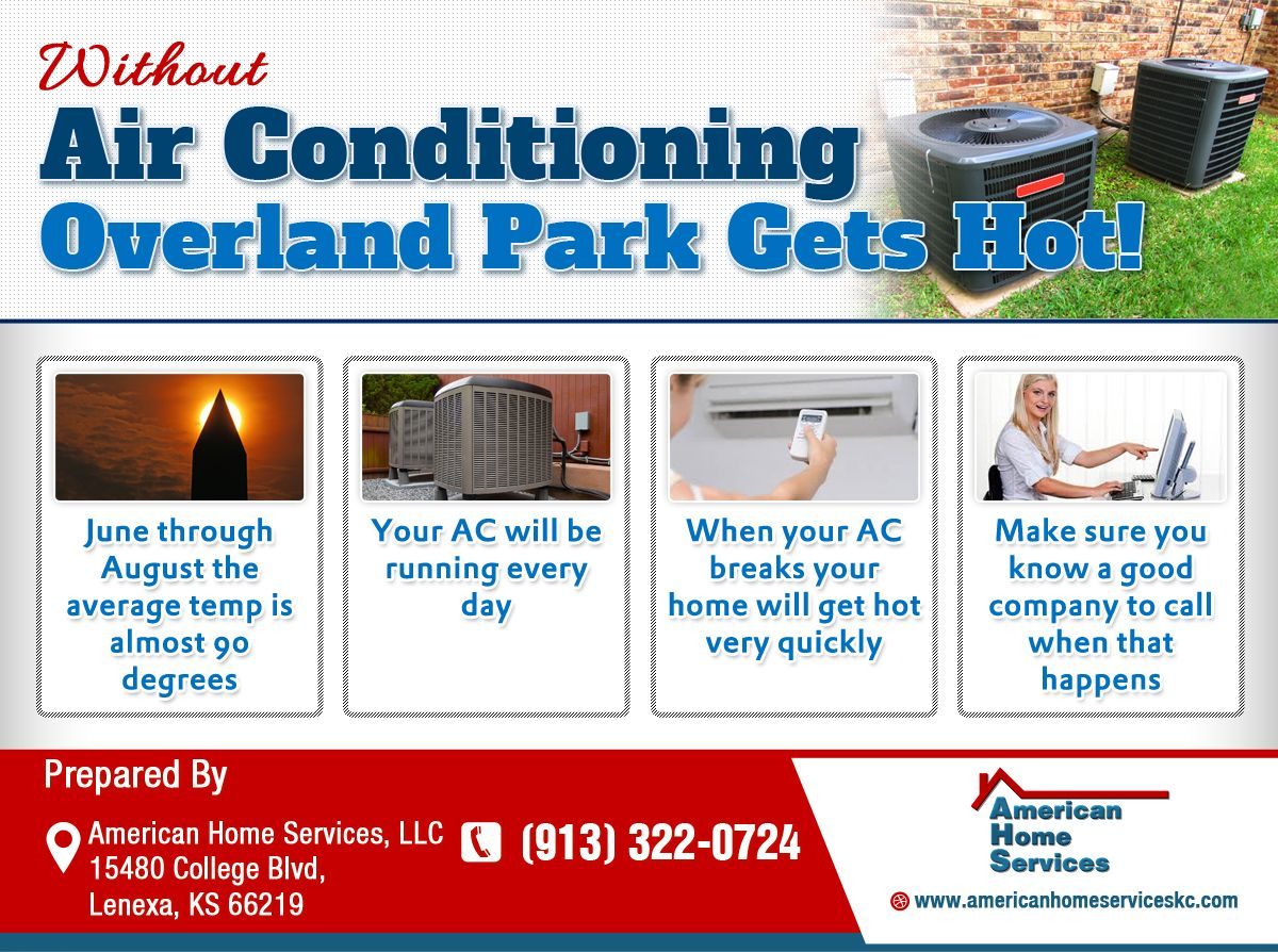 Infographic Without Air Conditioning Overland Park Gets Hot