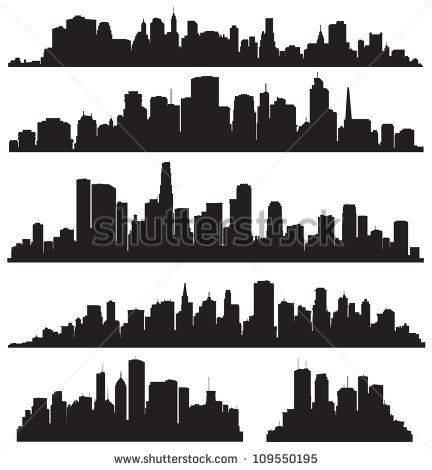 City Skylines City Silhouette City Skyline Silhouette