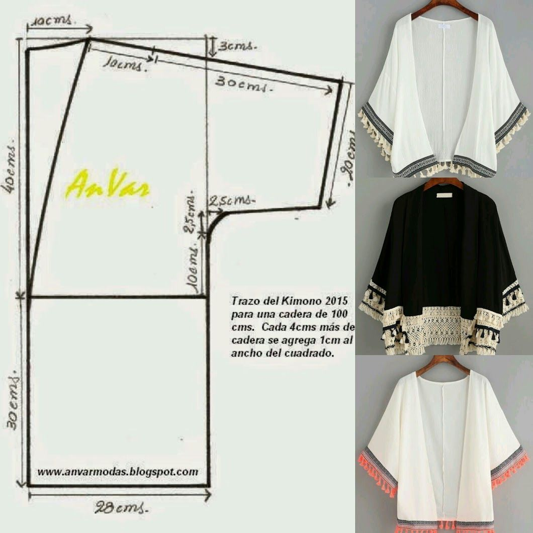 Kimono.. Patrón incluido.. - Glenny Melendez - Google+ | sewing ...