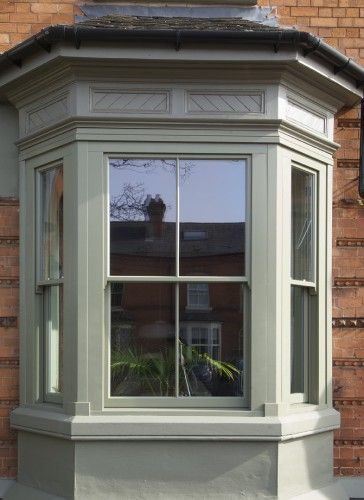 Timber sash window bay bay window exterior double - Houses with bay windows ...