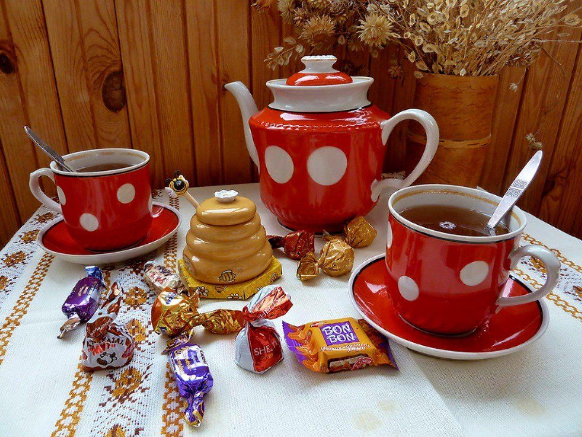 чашка чая другу картинки сердце подарила, мне