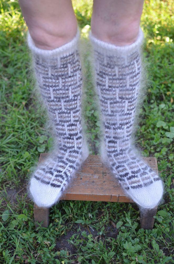 MEN/'s LEG WARMERS Russian sheep wool KNEE SOCKS BIG SIZE