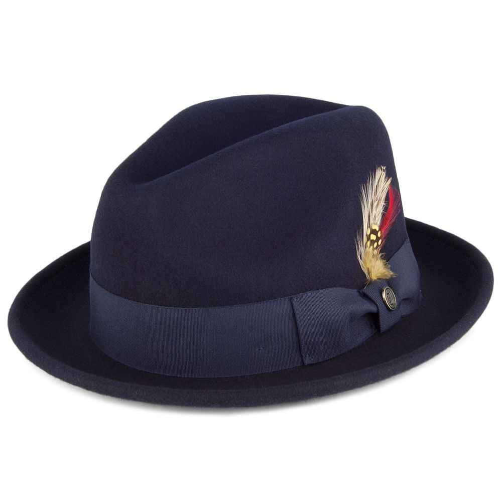 Jaxon   James Crushable Blues Trilby Hat - Navy  ffaa3eb0c9f