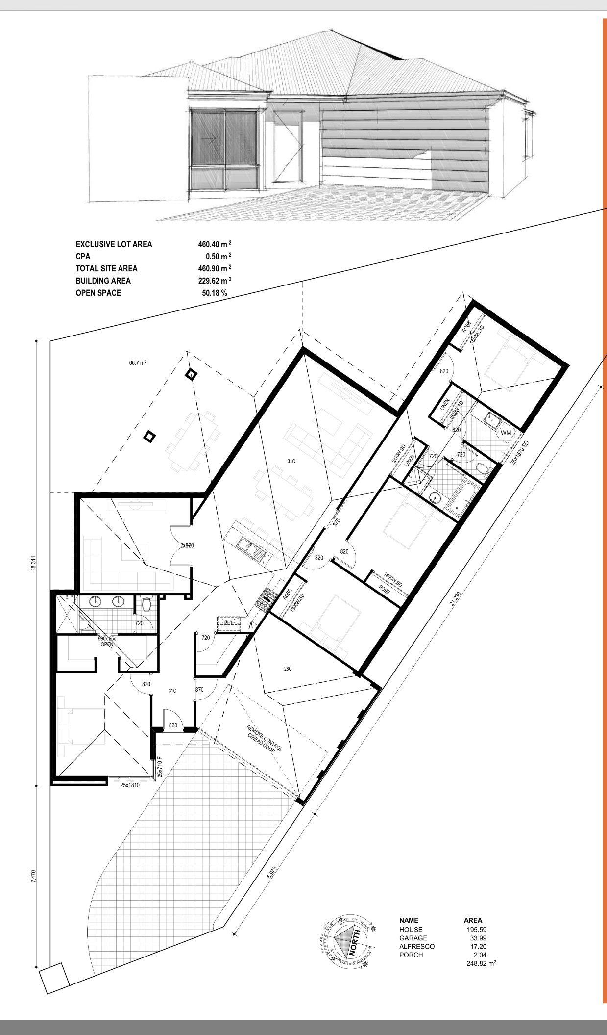 Sample Triangular Plot Plan
