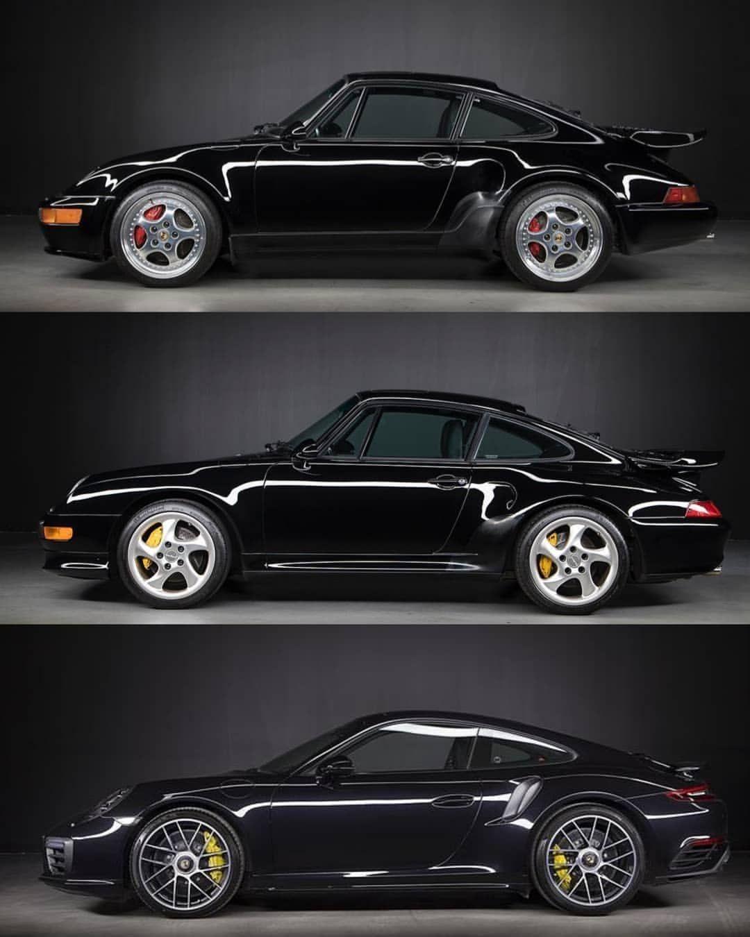 Choose Your Turbo S Weapon 964 Turbo S Flachbau Top 993 Turbo S Middle Or 991 Turbo S Bottom C Porsche Porsche Cars Porsche 911