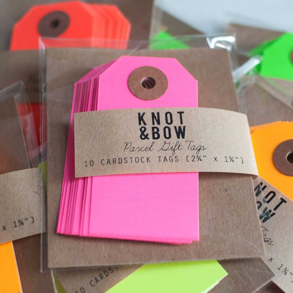 Yellow Parcel Gift Tags Set of 10