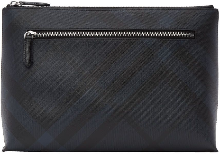 37a586a86ca5 Burberry - Navy Duncan London Check Pouch. Find this Pin and more on Men  Clutch Bag ...