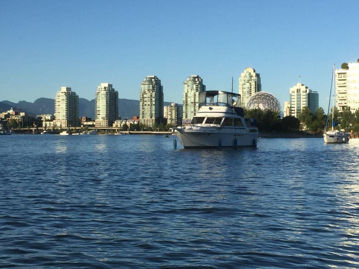 Anchored Vanc BC | Boat, Classic cars, Skyline