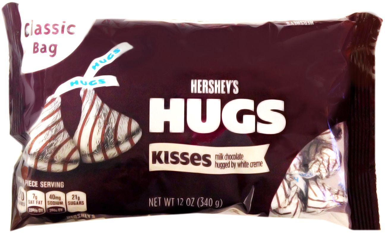 Hershey S Hugs Milk Chocolate Hugged By White Creme Net Wt