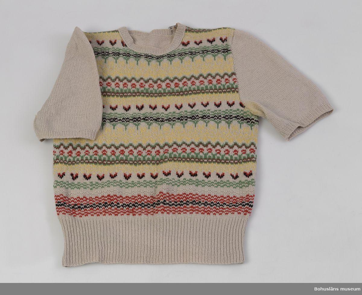 590ccd22d55f Jumper @ DigitaltMuseum.se   Vintage Knitwear   Stickat, Stickning ...
