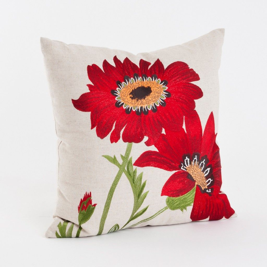 Embroidered Floral 18 Inch Throw Pillow Saro Lifestyle 434p R18s In 2021 Embroidered Throw Pillows Flower Throw Pillows Floral Throw Pillows