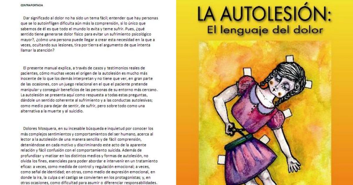LIBRO La autolesin El lenguaje del dolor Dolores Mosquera Barral.rar