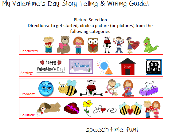 speech time fun: my valentine's day story telling & writing guide, Ideas
