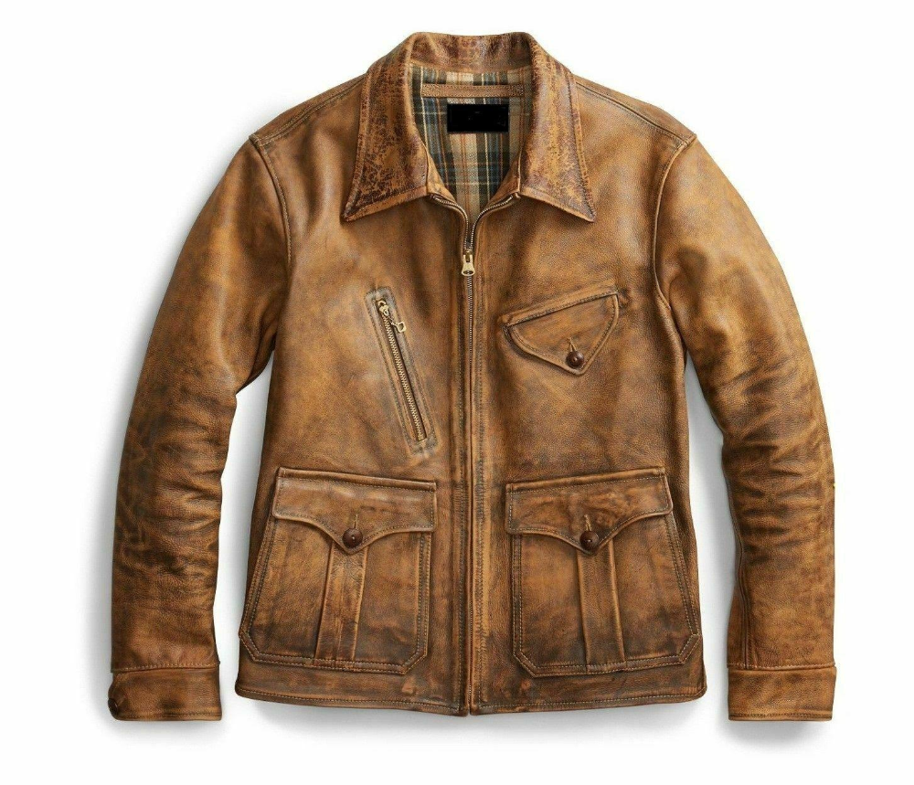 Men's 1920's New Boy Vintage Style Real Leather Casual