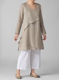 Linen Tunics | Plus Size Clothing | Linen dresses, Dresses ...