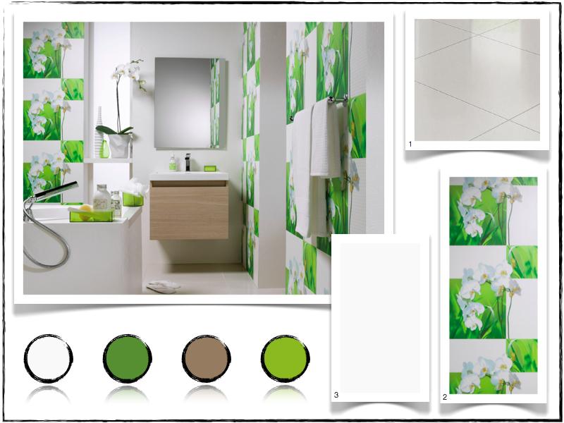 deco salle de bain vert pomme