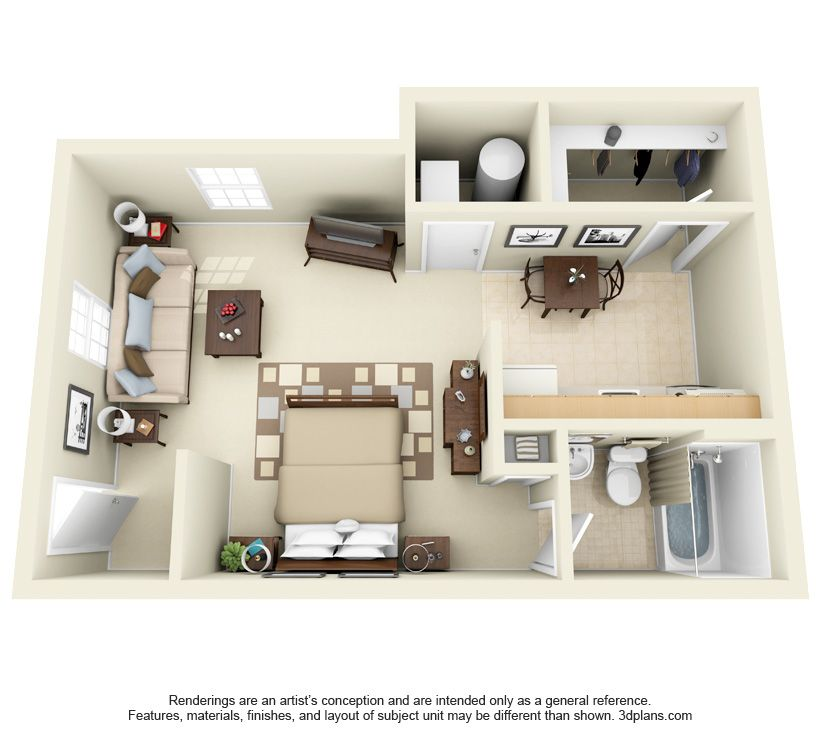 Efficiency 405 Sq Ft Apartment Layout House Design Townhomes For Rent