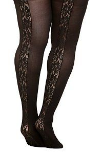 a8d26106c97 Black Back Lace Inset Tights from Torrid  15