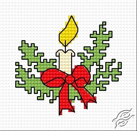 Christmas candle cross-stitch. Google Image Result for http://www ...