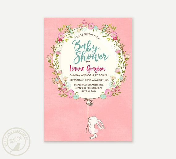 Baby shower invitation bunny baby shower invitation spring baby shower invitation bunny baby shower invitation spring baby shower digital invitation filmwisefo Image collections