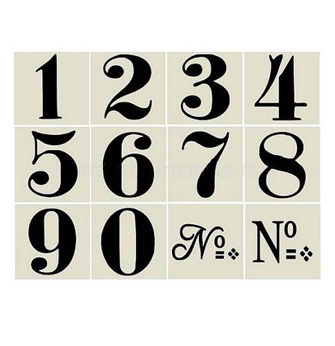 Stencils Vintage Style Wall Numbers Schizzi Facili Orologio Alfabeto