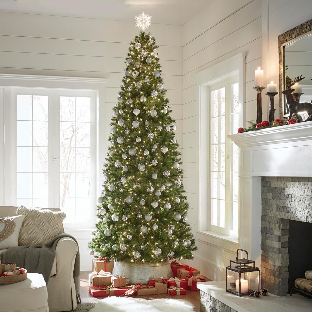 Home Accents Holiday 10 Ft Pre Lit Juniper Spruce Artificial Christmas Tree With 900 Clear Lights Tga0m Fun Christmas Decorations Metal Tree Unique Home Decor