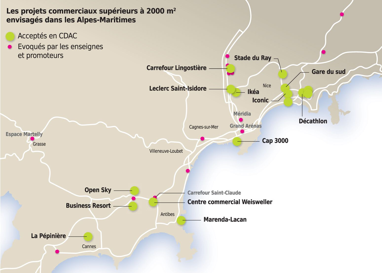 2018: Projets commerciaux supérieurs à 2 000 m² envisagés -CCI-Alpes-Maritimes06