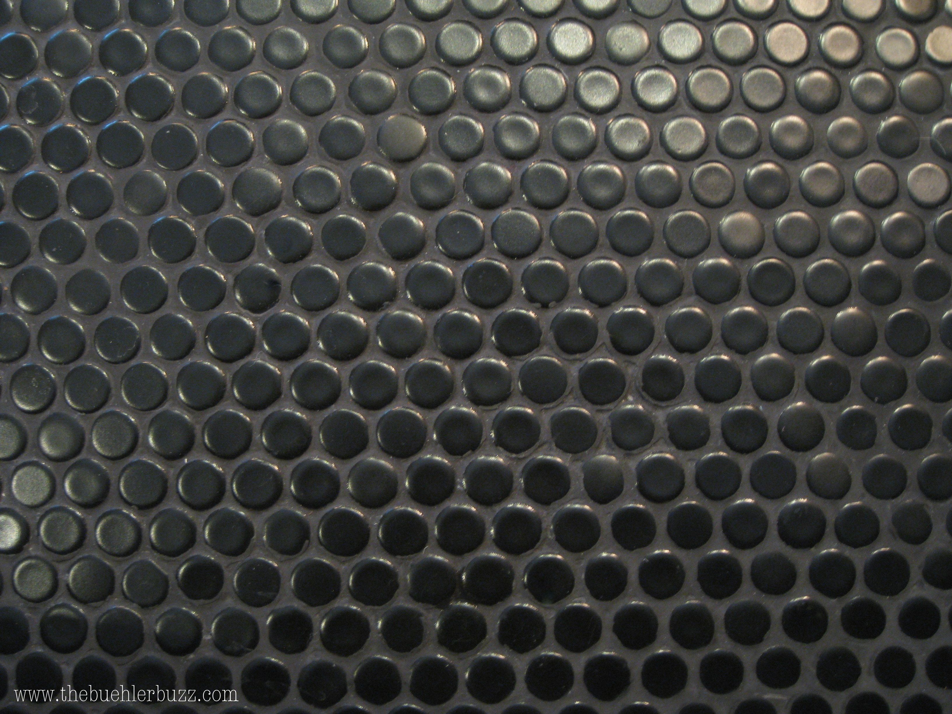 My Favorite Black Penny Tiles With Black Grout