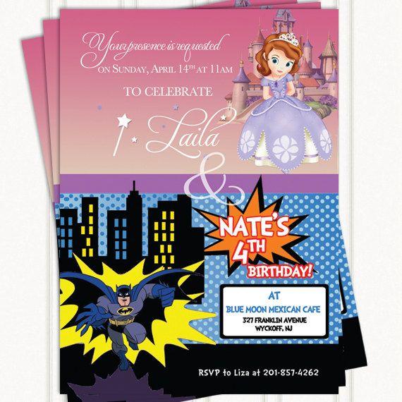 Twin or dual birthday invitations birthdays and ninjago party twin or dual birthday invitations filmwisefo Images