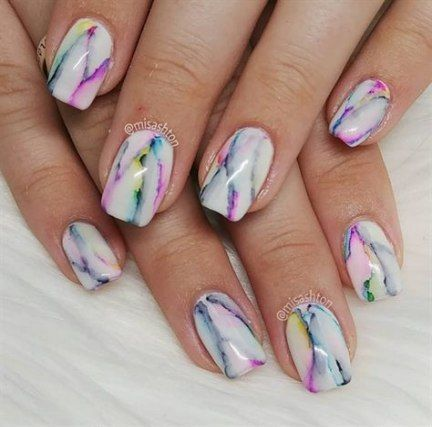 23 Ideas hair rainbow marble nails
