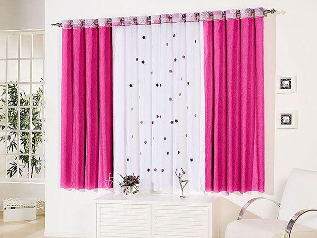 6cbb639aec8 Cortina para Quarto Sala Pink A Criativa Mila 2