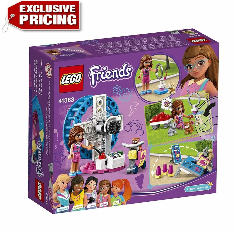 New Sealed Lego Friends 41383 Olivia/'s Hamster Playground Building Set