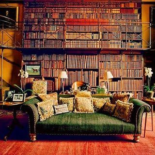 This classy display for anyone who ever loved the Beauty and the Beast library. | 26 Bookshelves That Will Give You Serious Goals