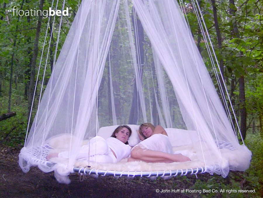 Outdoor Canopy Bed with Girls - Hanging in Tree | Outdoor ...