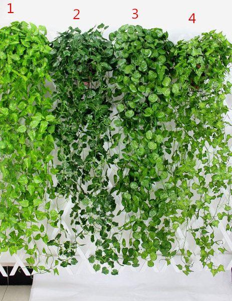 5x Artificial Hanging Ivy Vine Foliage Purple Leaf Garland Plant Fence DIY