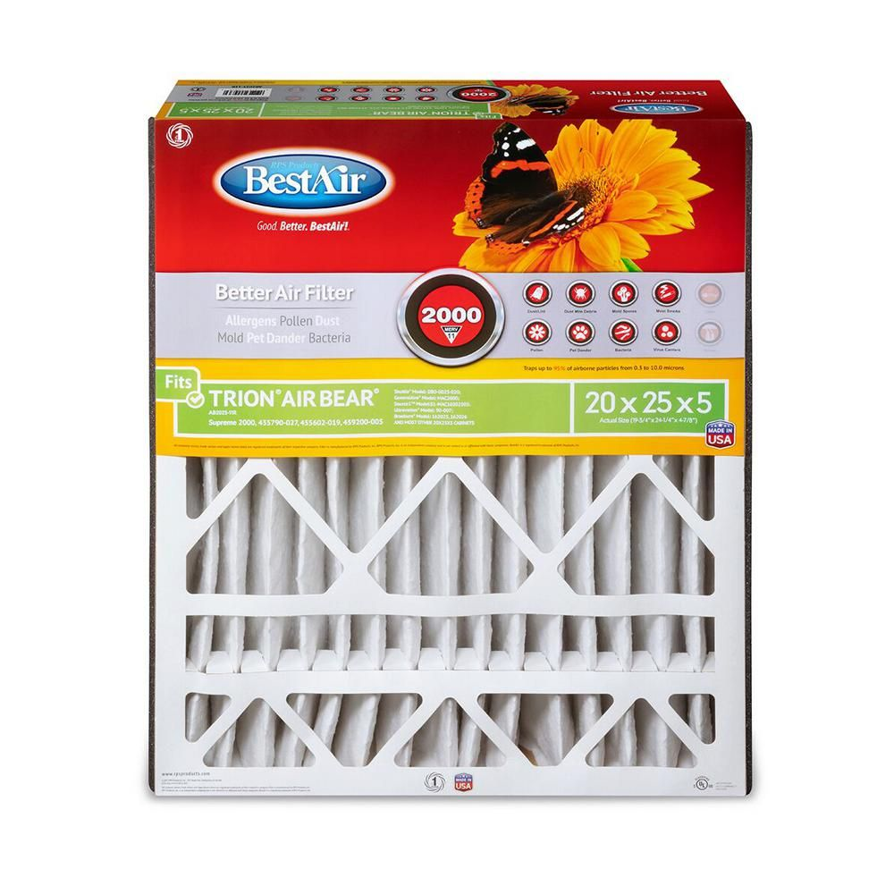 Bestair 20 In X 25 In X 5 In Trion Air Bear Fpr 7 Air Cleaner