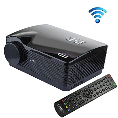 Generic Uhappy U2 HD 1080P 3000LM Home Theater 1280800 Wifi Projector for Video Games TV Movie, Support 3D + HDMI + YPbPr + TV + AV + S-Video + VGA(Black). Consumer Electronics. Projector. Television & Video. Office Electronics.