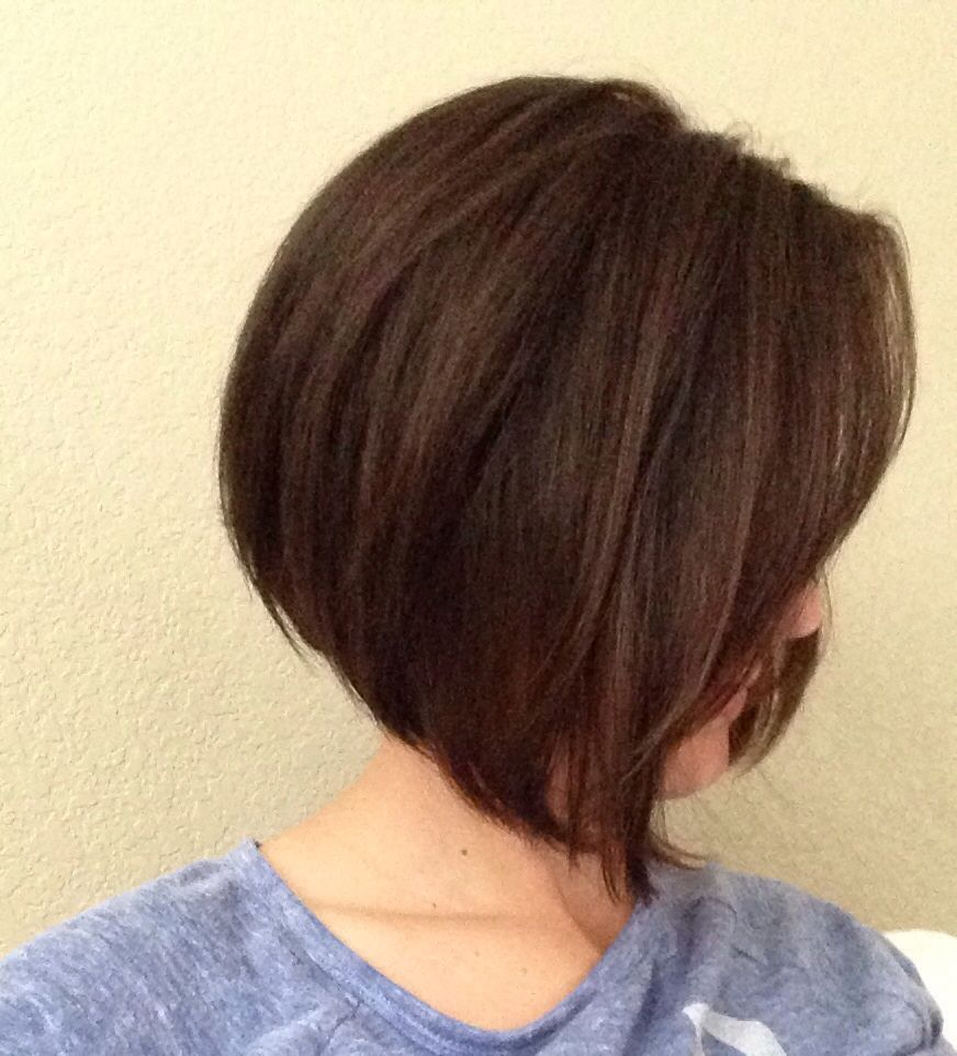 Short A Line Bob With Side Swept Bangs Hairstyles Pinterest